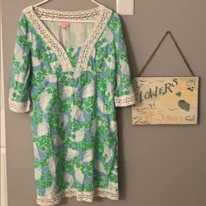 Lily Pulitzer 3/4 sleeve Dress Size 8